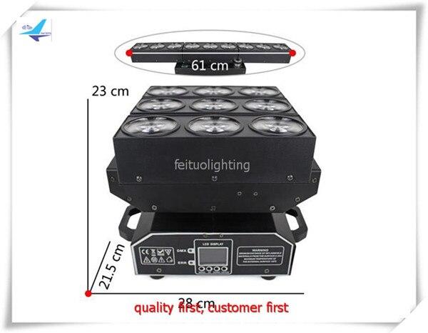 A- 2X RGBW DJ beam 9x15w 4in1 extend led beam light Stage Effect Lighting DMX512 DJ Disco Party Light
