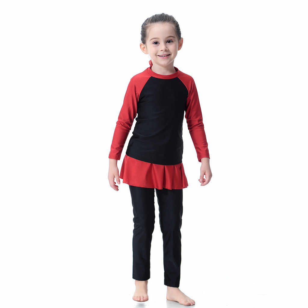 2019 ARLONEET NEWEST lovely baby girls   3PCS Kids Baby Girls Outfit Long Sleeve Swimsuit Swimwear Bathing Swimming Suit Z0214