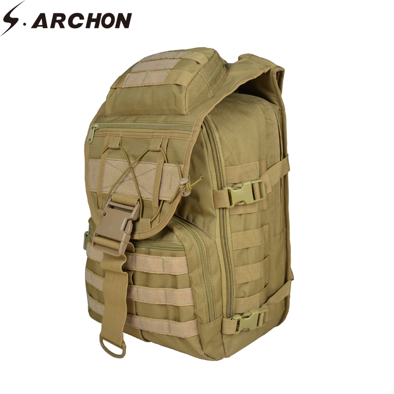 S.ARCHON Travelling Shoulder Bags Men Waterproof Camouflage Military Army Back Bag Many Pockets Soldier Combat Backpack 35L 2017 hot sale men 50l military army bag men backpack high quality waterproof nylon laptop backpacks camouflage bags freeshipping