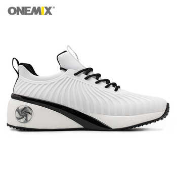 onemix women running shoes high increasing walking shoes for women pink sport sneakers rubber outsoles lady shoes size 35-40