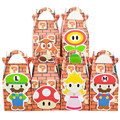 Mario Bros  Favor Box Candy Box Gift Box Cupcake Box Boy Kids Birthday Party Supplies Decoration Event Party Supplies