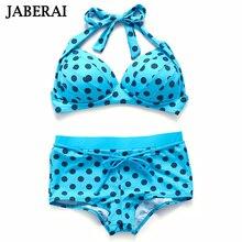 Jaberai bikinis swimsuit женщин push up бикини высокой талией ретро купальный костюм холтер купальники марка бикини установить qeq818