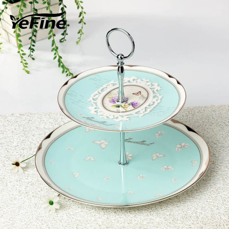 Kitchen Accessories China: YeFine Porcelain Cake Stand Holder Snack Dishes And Plates
