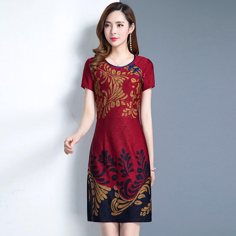Dames Slim Chinois Vintage Femme La My365 Femmes Rouge Taille Red 5j4RA3L