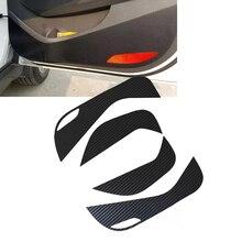 Jeazea 4 шт. Карбон Волокно Внутренняя дверь защитная Стикеры Анти Удар Плёнки наклейка Fit для Hyundai Tucson (tl) 2015 2016 2017