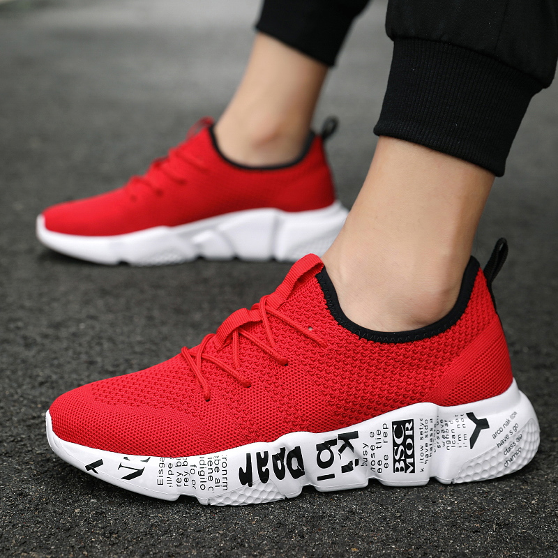 Men's Tennis Shoes Flying weaving Mesh Comfortable Breathable Sneakers Antislip Superior Impact Cushioning tennis shoes 39-47 image