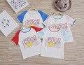 Lo nuevo 2017 muchachas de los bebés de Madres COCO letra impresa manera de la familia de manga corta de algodón de verano Camisetas ropa envío gratis