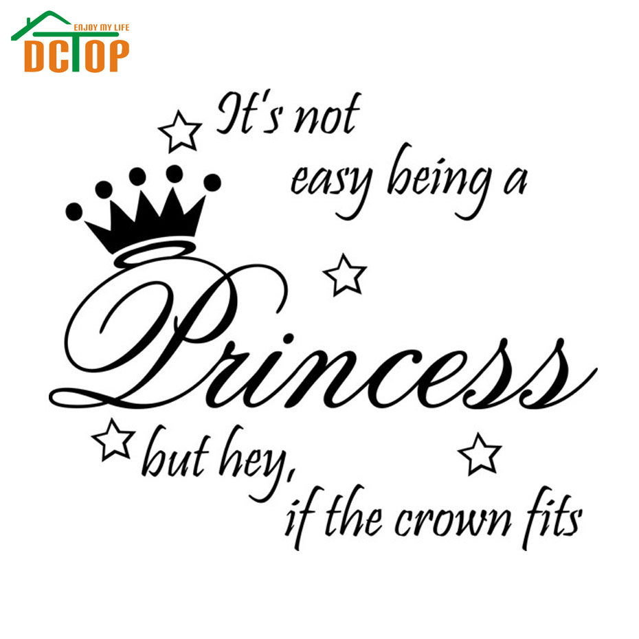 Dctop Not Easy Being Princess Wall Stickers Decor Cute