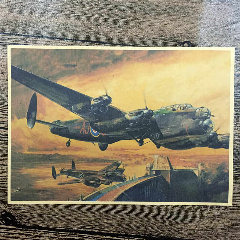 "SPF-146 ريترو كرافت ورقة ""الطائرات تحلق في الهواء"" ملصقات الحائط غرفة المعيشة ديكور المنزل ملصق ملصق للأطفال 42x30 cm"