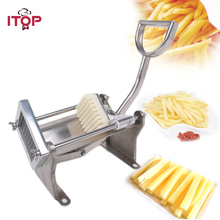 ITOP Stainless Steel Manual Potato Carrot Cutter Vegetable Fruits Cutter Potato Chip Slicers With 8mm 10mm 12mm Blade