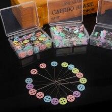 50 шт/100 шт полезные Красочные 10*50 мм кнопки пэчворк булавки иглы цветок швейные булавки Швейные аксессуары DIY ремесла торговля