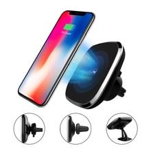 NILLKIN Voiture Qi Chargeur Sans Fil Pad 360 degrés réglable chargeur sans fil pour samsung S8 S9 S10 pour iPhone X XR 8 Plus de bureau de voiture