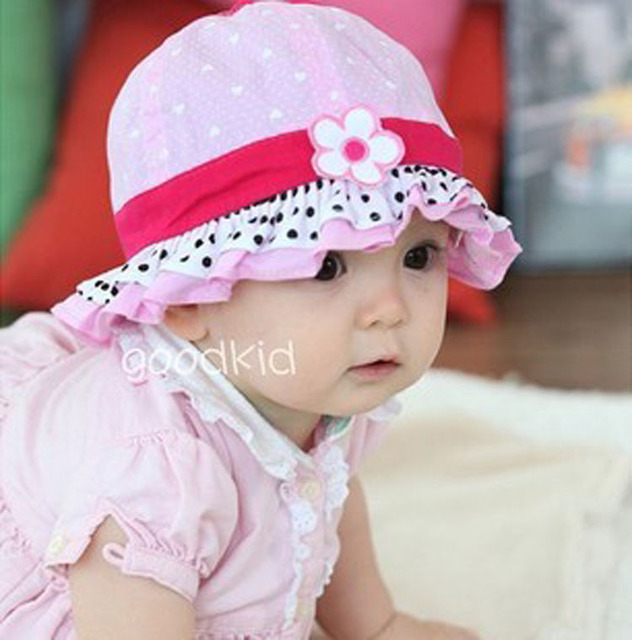 84dfff8ab US $5.46 |4 month 3 year old Lovely children spring summer flowers cap Baby  cute frilly princess hat Flower pattern bucket Hat-in Hats & Caps from ...