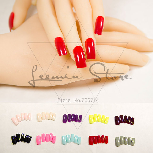 Модные Длинные накладные ногти цвет поддельные гвозди сексуальный выбор для вечеринки