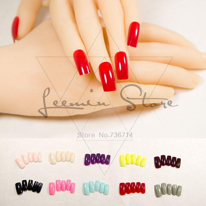 Mode långa falska naglar färg falska naglar sexiga val för fest