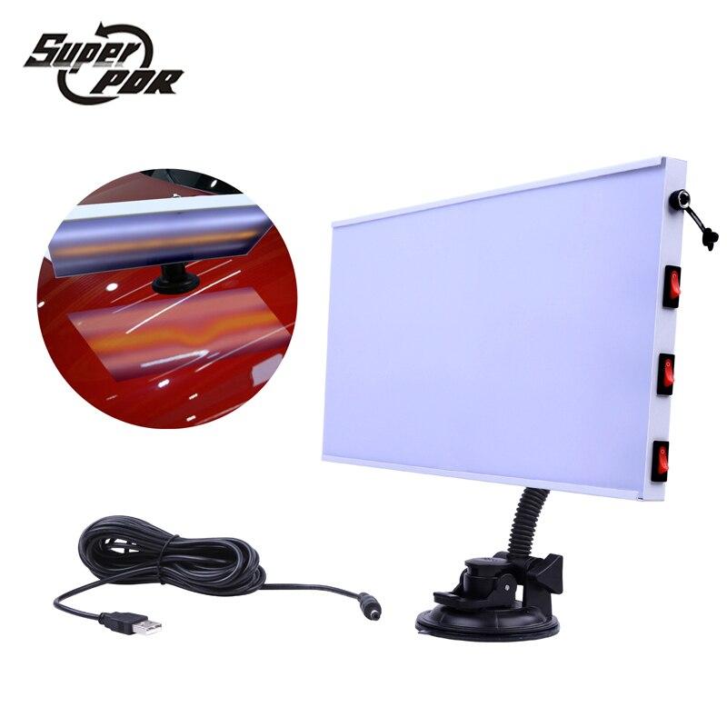 PDR lampe à LED panneau réflecteur PDR Dent réparation outils lumière LED panneau de réflexion avec support réglable ensemble d'outils à main