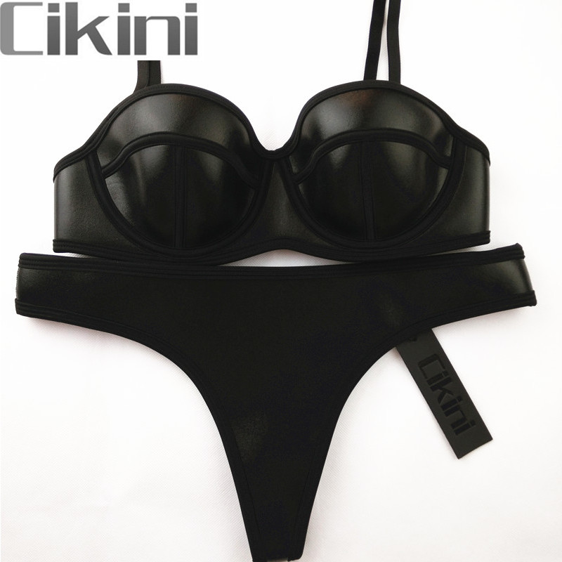 Swimwear New Summer 2018 Women Biquini Neoprene Bikini Women Sexy Swimsuit Bath Suit Push Up Bikini set Bathsuit Cikini TA01B neoprene swimwear women bikini woman new summer 2017 sexy swimsuit bath suit push up bikini set bathsuit ta008y