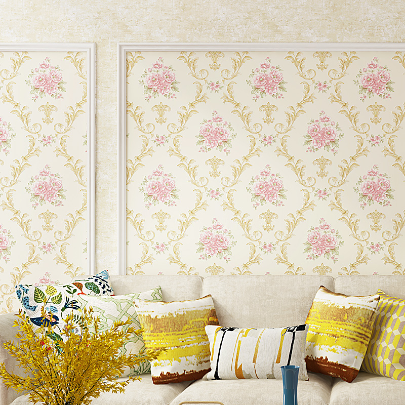 beibehang American Pastoral Wallpaper AB Non-woven Wallpaper Living Room Restaurant TV Background Wallpaper papel de parede beibehang blue wallpaper non woven