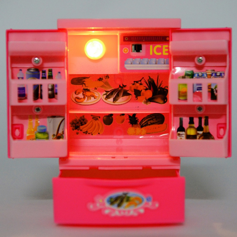 Mini Simulation applicances refrigerator toy kids electric furniture toy door can open girls gift box classic toy-in Kitchen Toys from Toys \u0026 Hobbies on ... & Mini Simulation applicances refrigerator toy kids electric ...