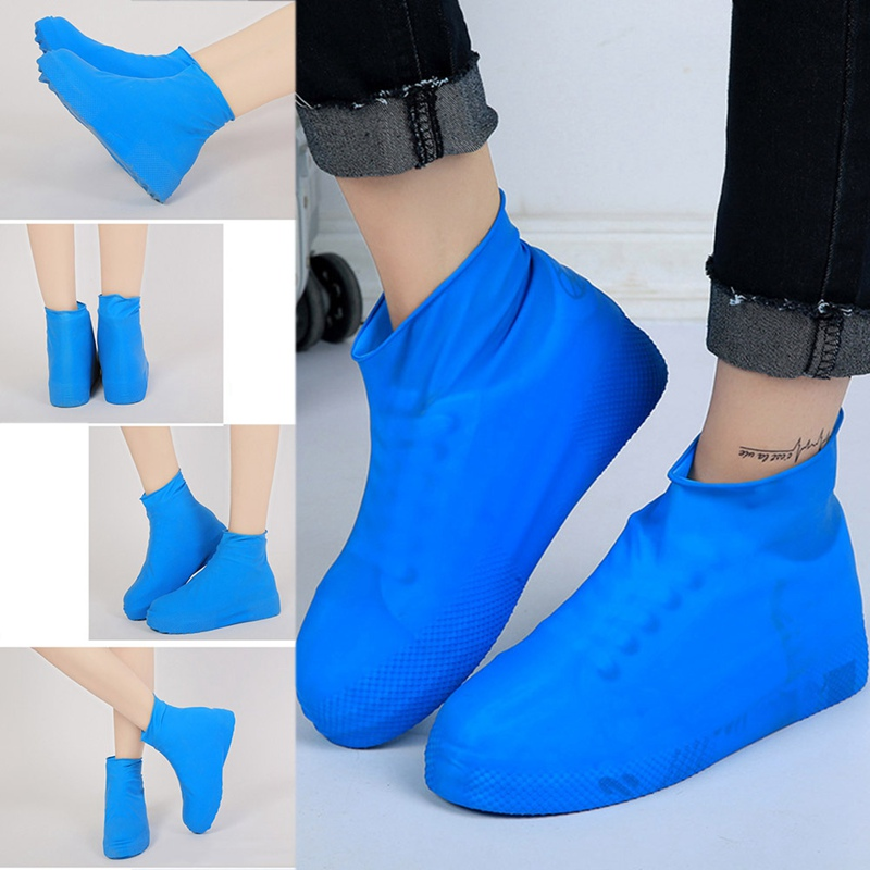 1pair Waterproof Protector Shoes Boot Cover Unisex Rain Shoe Covers Outdoor High-Top Anti-Slip Rain Shoes Cases
