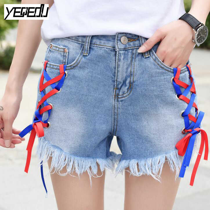 Online Buy Wholesale red jean shorts from China red jean shorts ...