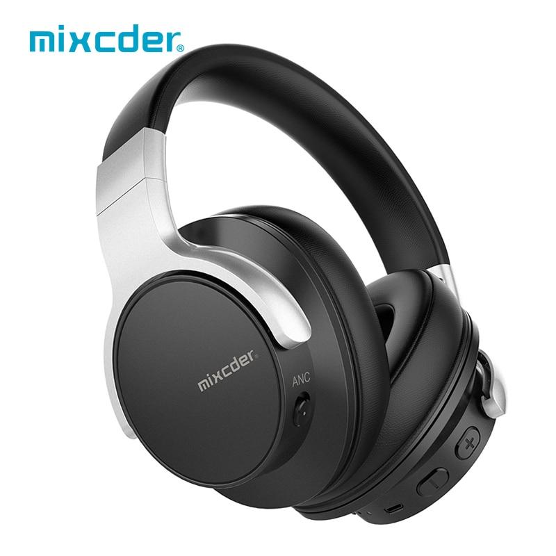 Mixcder E7 casque antibruit actif casque sans fil Bluetooth pour tablette HiFi stéréo ANC casque sur-oreille avec micro