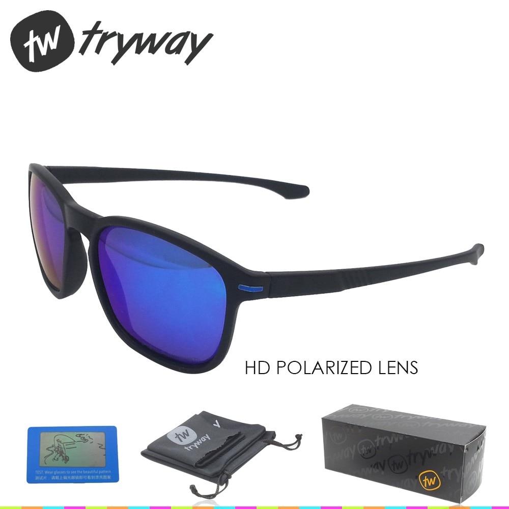 Prix pour Tryway 2017 lunettes de soleil Polarisées TR90 designer oculos de sol feminino lunettes de sport polarisées en plein air hommes lunettes avec la boîte