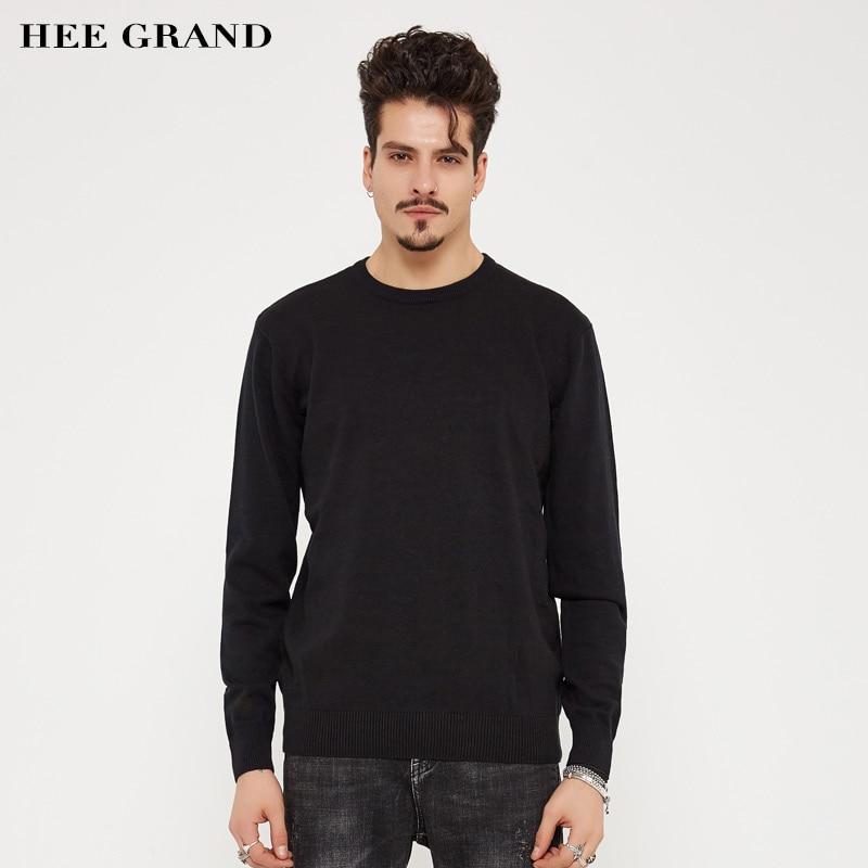 HEE GRAND Hommes Style Décontracté Pull 2018 Nouvelle Arrivée Printemps  automne O-cou Slim Équipée Solide Couleur Chandail Plus La Taille M-3XL  MZL678 c833db7ef7d
