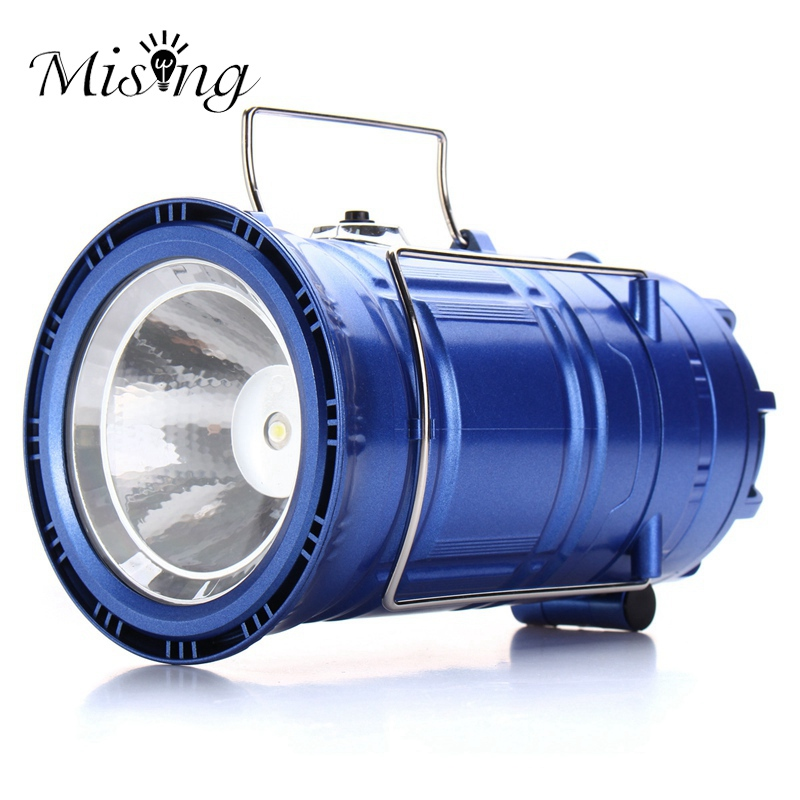 Mising 3 in 1 Function Rechargeable Solar Powered Camping Light DC charge Flashlight Fan Lantern Outdoor Hanging Hiking Light