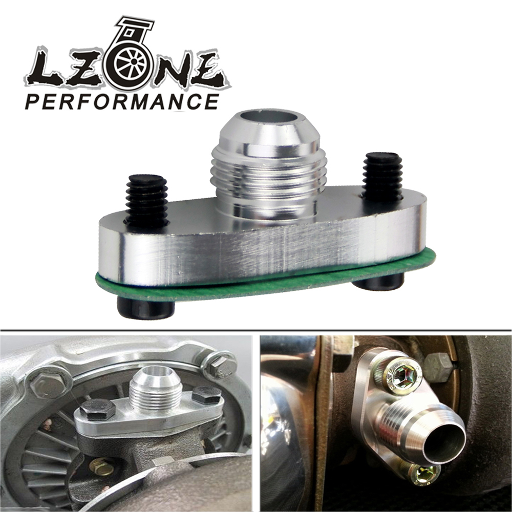 Lzone Turbo Oil Drain Flange 10an Gt40 Gt42 Gt45 Gt47 Gt55 T3/t4 T3 T4 Odf-01 Silver Jr-ofg33 Hangers, Clamps & Flanges