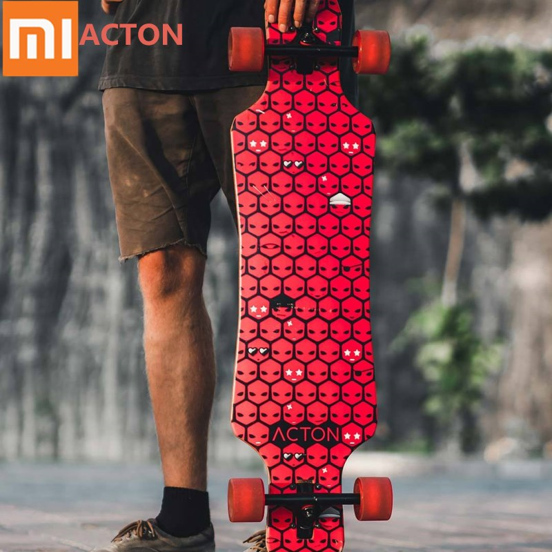 Xiaomi ACTON All-round Board Long Skateboard Wheel LED Night Light Maple Wooden Skateboard For Outdoor Skating 16 To 50 Year Old