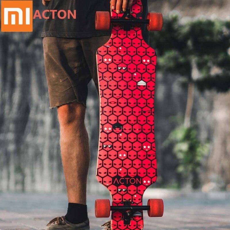 Xiaomi ACTON planche à roulettes longue planche à roulettes LED veilleuse en bois érable planche à roulettes pour patinage en plein air 16 à 50 ans