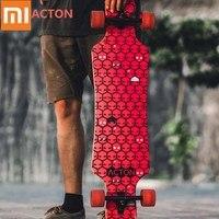Xiaomi acton placa redonda longa roda de skate led noite luz bordo skate de madeira para patinação ao ar livre 16 a 50 anos de idade Escovas de dente elétricas     -