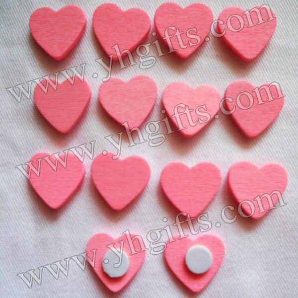 1000PCS/LOT.Light pink heart sticker,Home decoration,Wood crafts.Kids toys Wedding decoration.Easter decoration.1.8cm.Wholesale