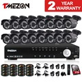 Tmezon 16ch dvr ahd 16 unids 2.0mp 1080 p de la cámara de vigilancia de seguridad Sistema de CIRCUITO CERRADO de televisión Al Aire Libre Impermeable de Visión Nocturna Por INFRARROJOS 1 TB 2 TB HD Kit