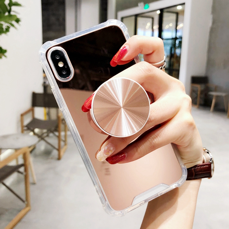 Xs Max Novelty Laser Air Bag Plated Mirror Phone Case Stand Holder Tpu Cover For Iphonexs 8plus I6s 7p S8/s9/s10 Skin Shell Cellphones & Telecommunications