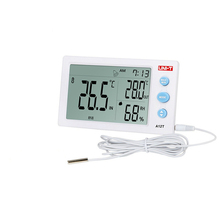 Buy UNI-T A12T Digital LCD Thermometer Hygrometer Temperature Humidity Meter Alarm Clock Weather Station Indoor Outdoor