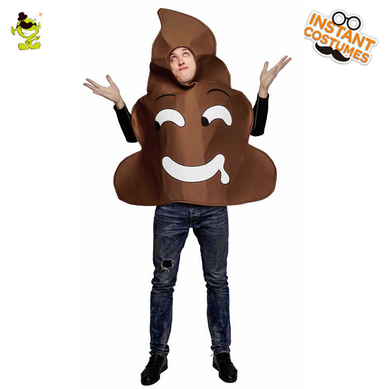 Adulte hommes merde Costumes Halloween fête mascarade drôle caca combinaison Cosplay carnaval fête caca Costumes pour unisexe