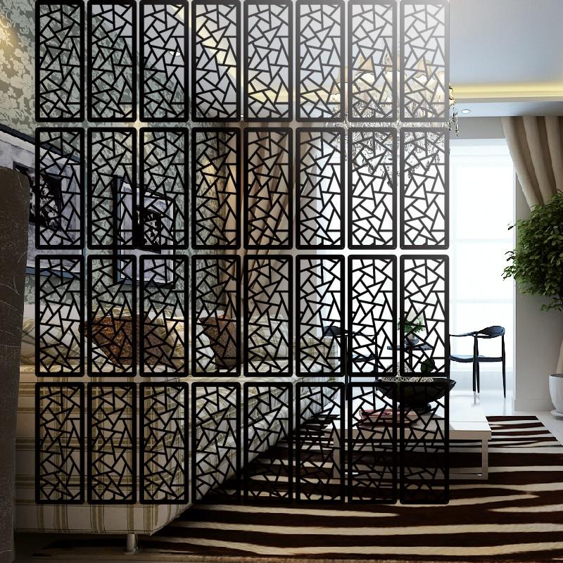 Plexiglass Hollow Modern Hanging Wall Creative Home Simple Rectangular Cut Off Cut Off The