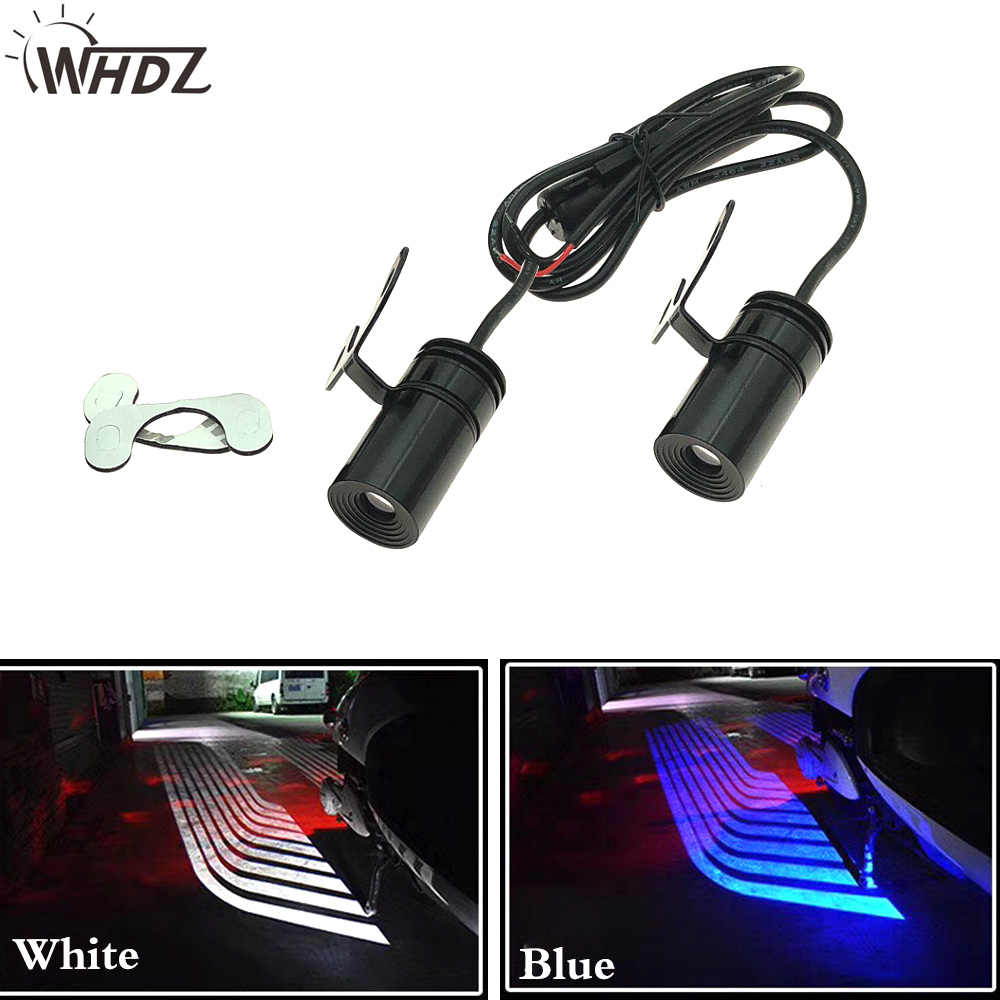 WHDZ 2Pcs Universal Angel Wings Car/Motorcycle Welcome Light Shadow Light Projector Car LED Door Warning Light Lamp for Motor