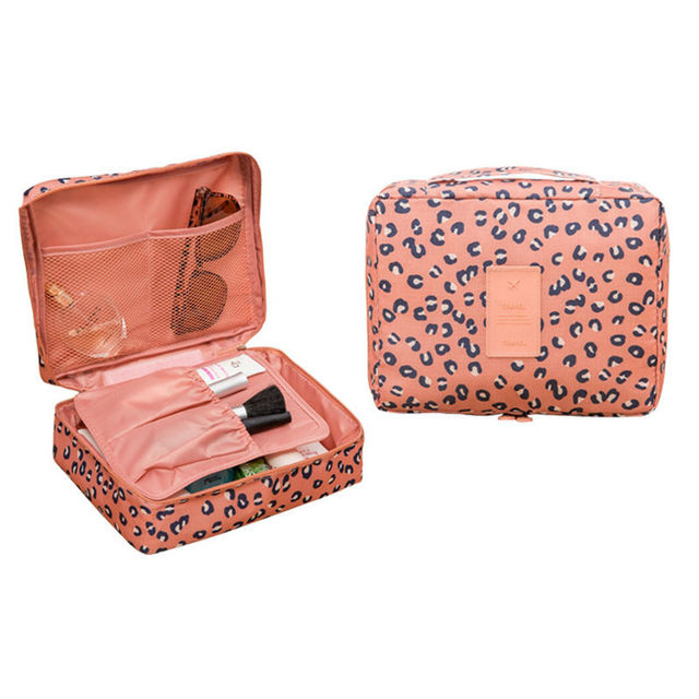 Canvas Women Make up bags Wash Bags Travel Accessories Organizer Travel Supply 2 Style Organizador Make Up case Wholesale Retail