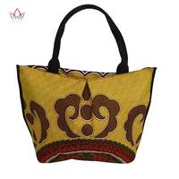 Bazin Riche 2019 High Quality African Wax Prints Fabric Women Fashion Hand Bag for Party Super Wax Hollandais Handbag WYB426