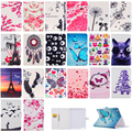 New Case For Apple iPad 2 iPad 3 iPad4 Owl Butterfly Cat Rose Print Flip PU Leather Tablet Case Cover For Ipad 4 3 2 #