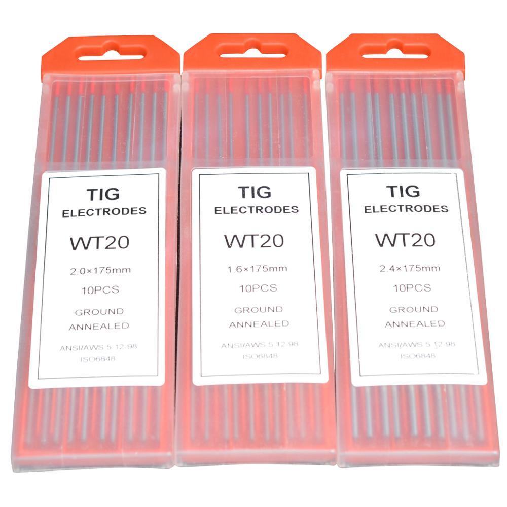 """Électrodes de tungstène de polissage 1/25 """"1/16"""" 2/25 """"3/32"""" 1/8 """"5/32"""" 1/8 """"5/32"""" * 7 """"longueur WT20 WC20 WS20 WL15 20 WP20 électrodes de soudage Tig"""