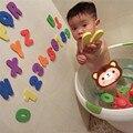 4 Sets X Esponja de Espuma Letras Números Flutuante Banheira Natação Aprendizagem Do Alfabeto Brinquedo da Inteligência Do Banheiro EC1203
