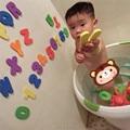 4Sets X Sponge Foam Letters Numbers Floating Bath Tub Swimming Alphabet Learning Bathroom Intelligence Toy EC1203