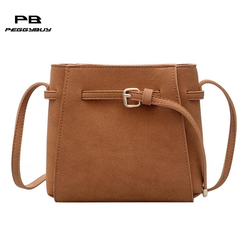 075c25091757 Vintage Crossbody Bags for Women 2018 Bucket Women s Bag Scrub PU Leather  Messenger Bags Handbag Women Famous Brand Bolsos Mujer – Wiel Store
