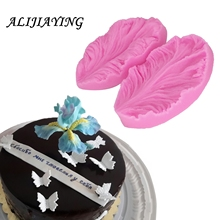 2Pcs/set Fondant silicone mold 3D flower cooking wedding decoration baking Sugar Craft Molds Leaves petal DIY Cake D0748