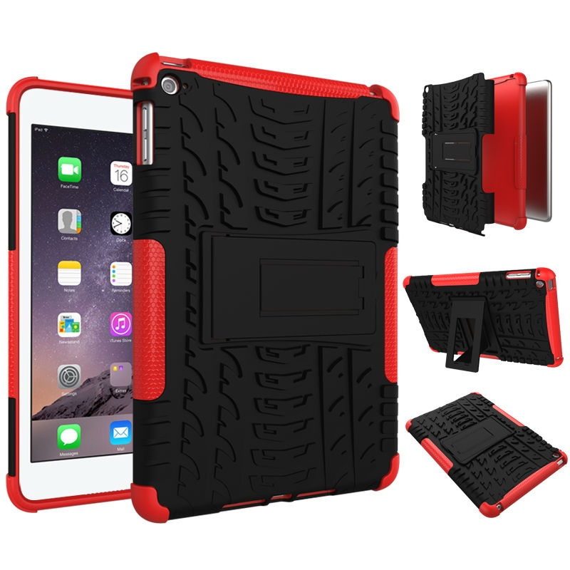 Tablet Case For Apple iPad mini 4 case Hybrid Armor Kickstand Hard Case For ipad mini