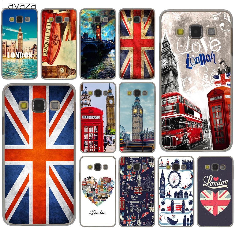 Lavaza Flag United Kingdom London Case for Samsung Galaxy S20 Ultra S10 Lite S10E S6 S7 Edge S8 S9 Plus A51 A71 A81 A91